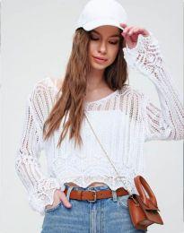 Блуза - код 2744 - бело