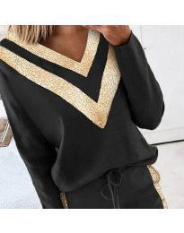 Блуза - код 2190 - 1 - црна