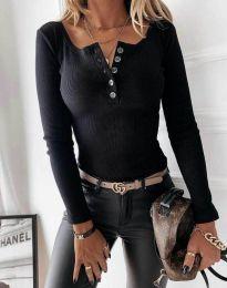 Блуза - код 1553 - 1 - црна