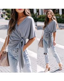 Блуза - код 0009 - сиво