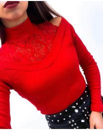Блуза - код 4254 - црвена