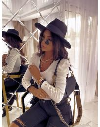 Блуза - код 4156 - бело