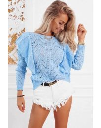 Блуза - код 5321 - светло сина