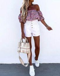 Блуза - код 2075 - розова