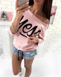 Блуза - код 0996 - 4 - розова