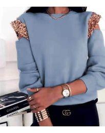 Блуза - код 1539 - светло сина