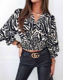 Блуза - код 0483 - шарена