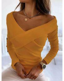 Блуза - код 0308 - 6 - портокалова