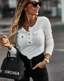 Блуза - код 11516 - 1 - бело
