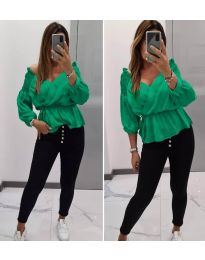 Блуза - код 7771 - зелена