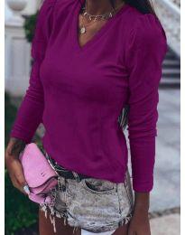 Блуза - код 0755 - темно виолетова