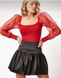 Блуза - код 11320 - 4 - црвена