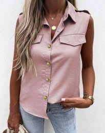 Дамска риза цвят пудра - 6598
