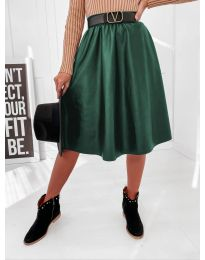 Сукња - код 6767 - темно зелена