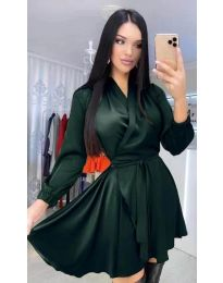 Фустан - код 5931 - темно зелена