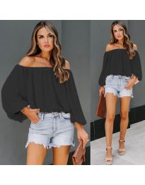 Блуза - код 6674 - црна
