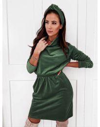 Фустан - код 1714 - темно зелена