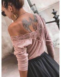 Блуза - код 188 - пудра