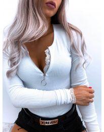 Блуза - код 4046 - бела