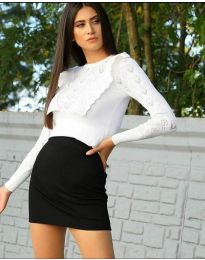 Блуза - код 2214 - бело