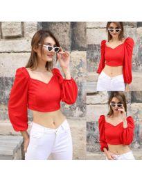 Блуза - код 3099 - 2 - црвена
