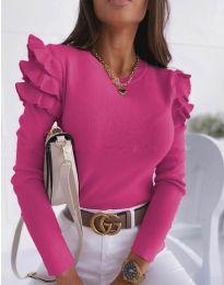 Блуза - код 1653 - 4 - циклама