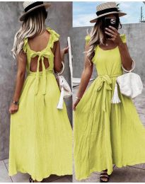 Фустан - код 4806 - жолта