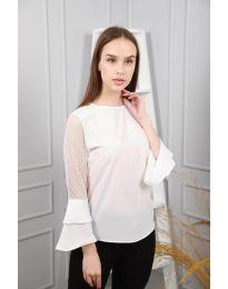 Блуза - код 0643 - 1 - бело