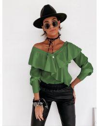 Блуза - код 6030 - зелена