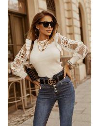 Блуза - код 40222 - бело