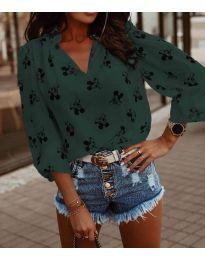 Блуза - код 6650 - путер зелена