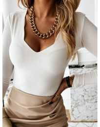 Блуза - код 4086 - бело