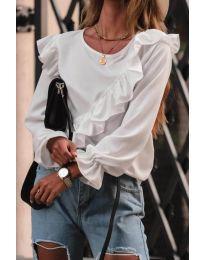 Блуза - код 6009 - бело
