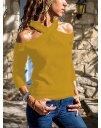 Блуза - код 4616 - окер