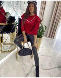 Блуза - код 6189 - црвена