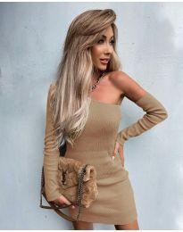 Фустан - код 4933 - кремова
