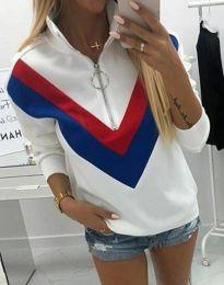 Блуза - код 7890 - 1 - бело