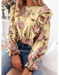 Блуза - код 4256 - жолта