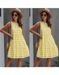 Фустан - код 2123 - жолта