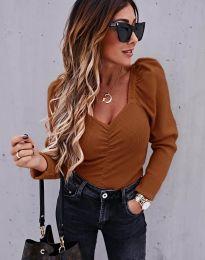 Блуза - код 394 - кафеава