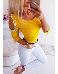 Блуза - код 3272 - жолта
