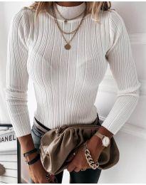 Блуза - код 9930 - бело