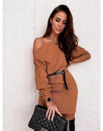 Фустан - код 4442 - кафеава