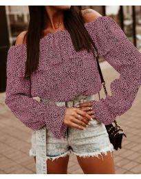 Блуза - код 5452 - розова