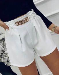 Атрактивни къси панталони в бяло - код 2085