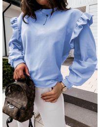 Блуза - код 6613 - светло сина