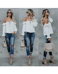 Блуза - код 5574 - бело