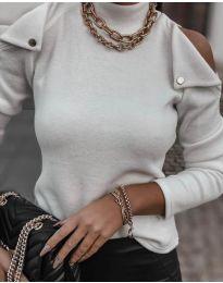 Блуза - код 1596 - бело
