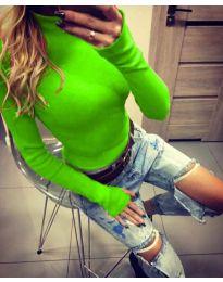 Блуза - код 5256 - зелена