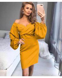 Фустан - код 6761 - жолта